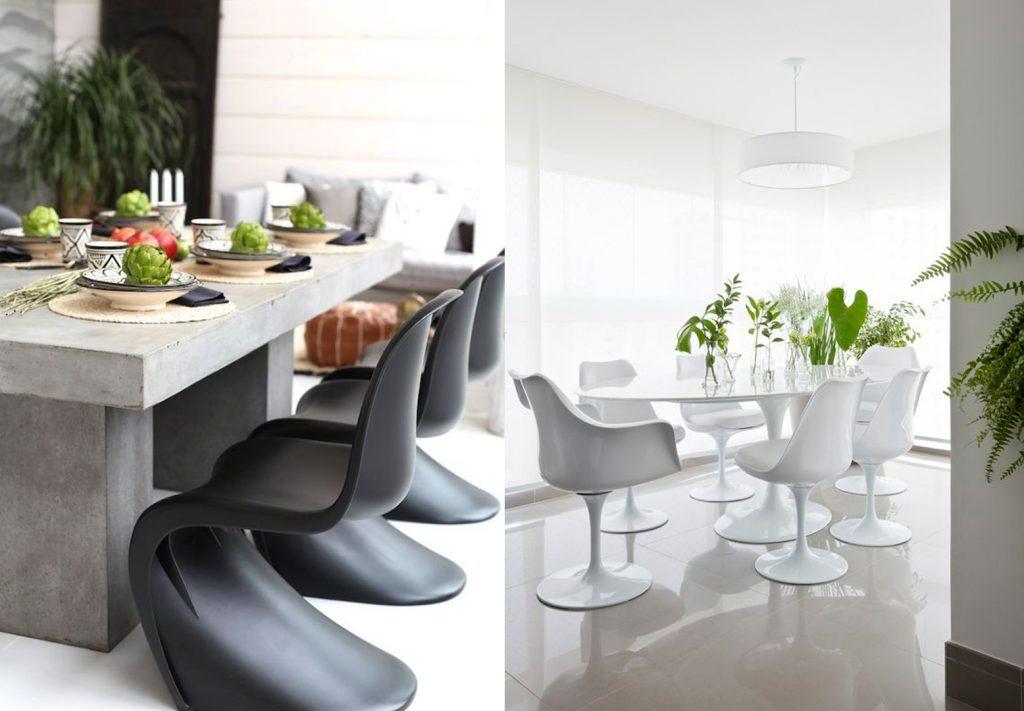 Cadeira Panton e Saarinen